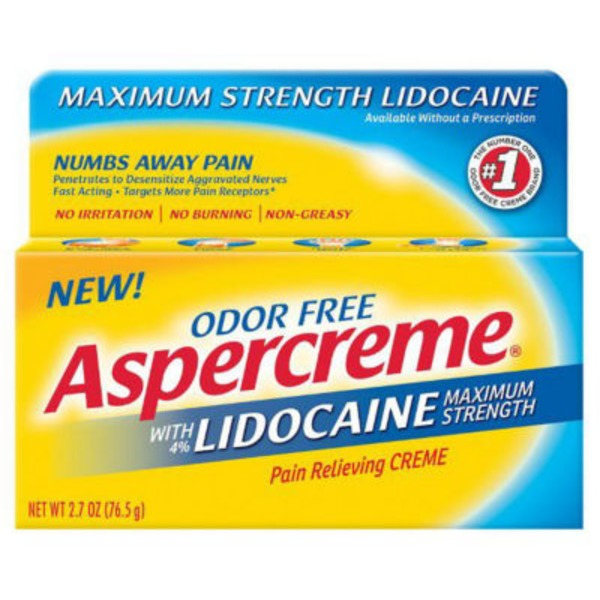Aspercreme Lidocaine Pain Relieving Creme