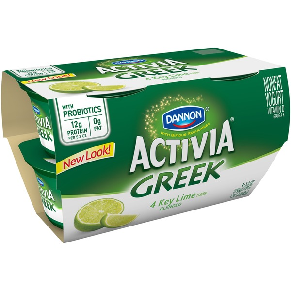 Activia Greek Key Lime Nonfat Probiotic Yogurt