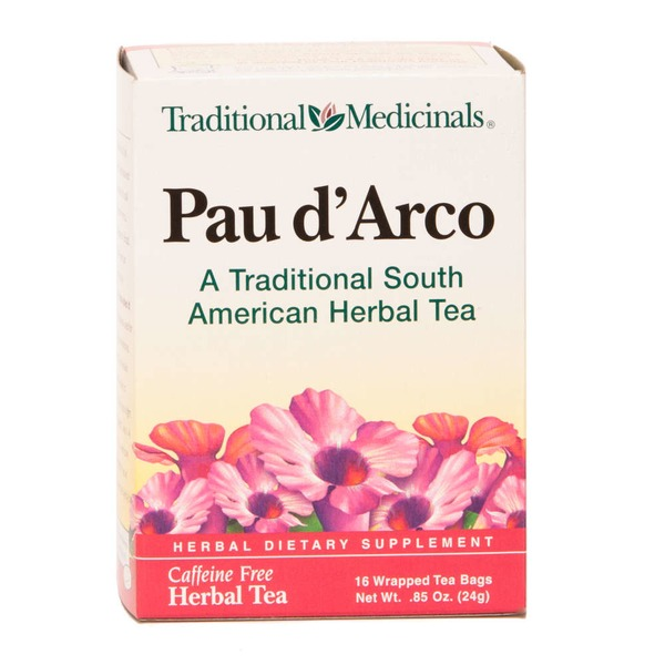Traditional Medicinals Herbal Teas Pau d'Arco Wrapped Tea Bags - 16 CT