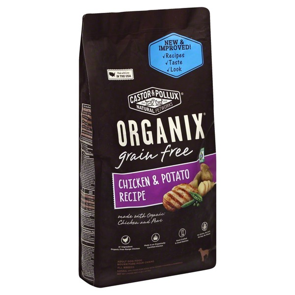 Organix Dog Food, Chicken and Peas, Chicken & Potato, Grain Free, Adult, Bag