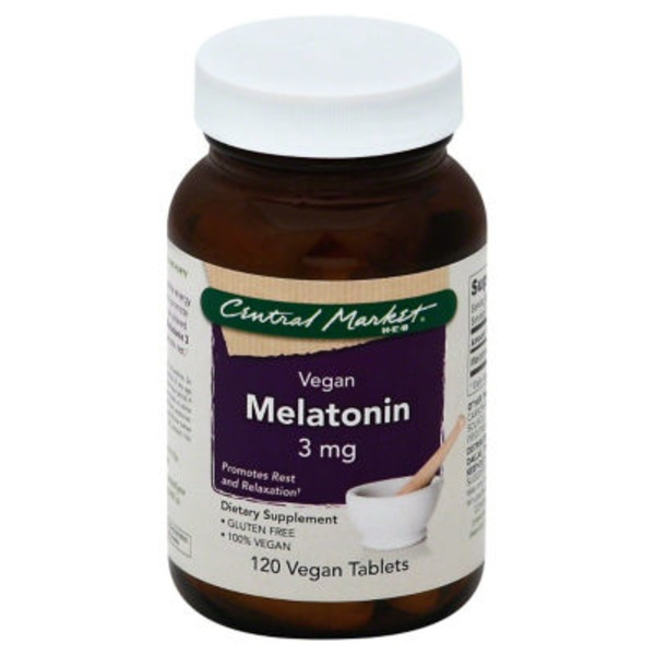 Central Market Melatonin 3 Mg Vegan Tablets