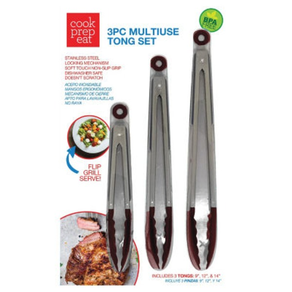 Cook Prep Eat Red Multiuse Tong Set