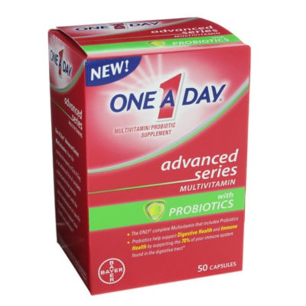 One A Day Advanced Series with Probiotics Capsules Multivitamin