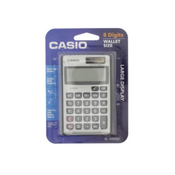 Casio 8 Digit Twin Power Glass Top Calculator