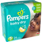 Pampers Baby Dry Diapers, Size 5, 24 Diapers
