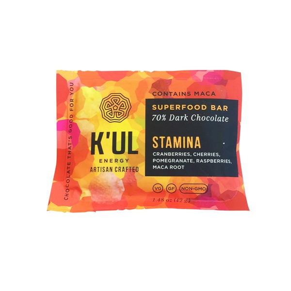 K'ul Stamina Superfood Bar, 70% Dark Chocolate