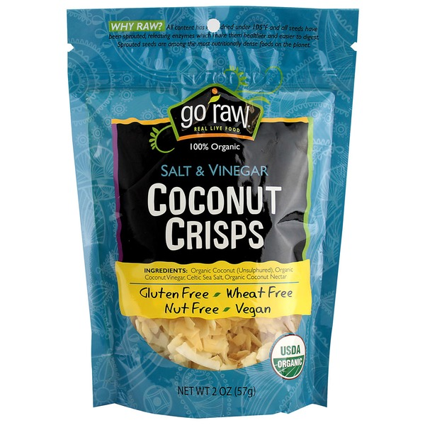 Go Raw Organic Coconut Crisp Salt/Vinegar 2 Oz