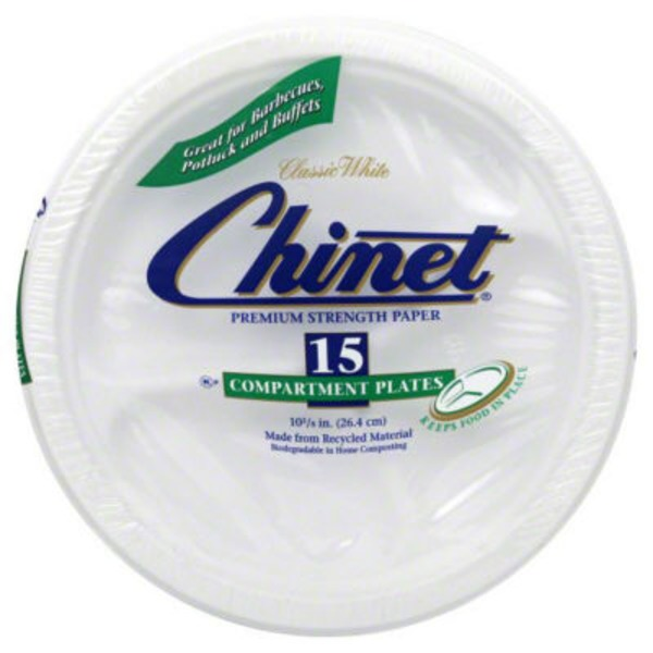Classic White White 10.375 in Compartment Plates