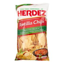 Herdez Authentic Yellow and White Corn Masa Tortilla Chips 11 Oz Bag