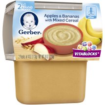 Gerber® 2nd Foods® Apples & Bananas with Mixed Cereal, 4 oz, 2 count