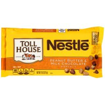 Nestle TOLL HOUSE Peanut Butter & Milk Chocolate Morsels 11 oz. Bag