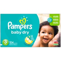 Pampers Baby Dry Pampers Baby Dry Diapers Size 3 104 Count Diapers