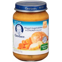Gerber 3 Rd Foods Mixed Vegetables & Chicken Purees Dinner