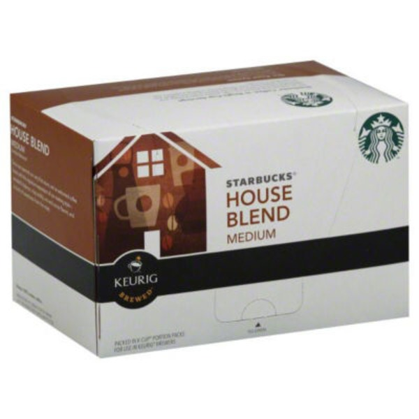 Starbucks House Blend Medium Roast Ground K-Cup Pods Coffee