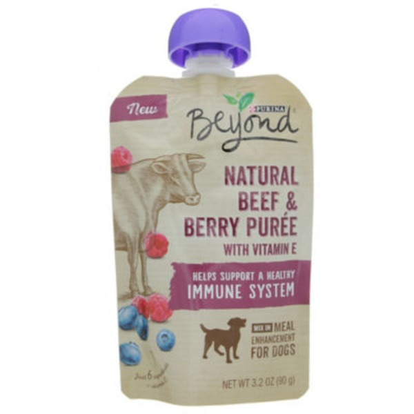 Beyond Dog Wet Natural Beef & Berry Puree Meal Enhancement