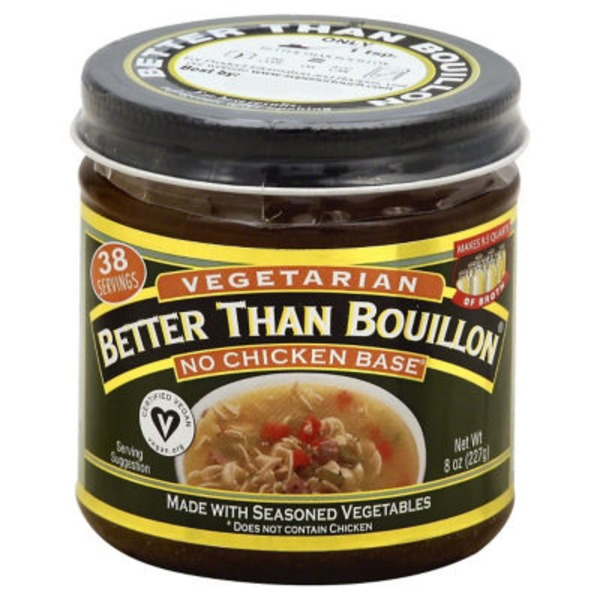 Better Than Bouillon Batter Than Bouillon Vegetarian No Chicken Base