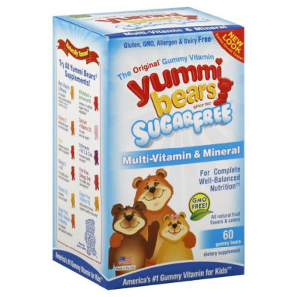 Yummi Bears Sugar Free Multi-Vitamin & Mineral Gummy Bears