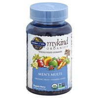 Garden of Life Men's Multi, Whole Food, Vegan Gummy Drops, Organic Berry