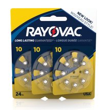 Rayovac Size 10 Hearing Aid Batteries, 24 Count