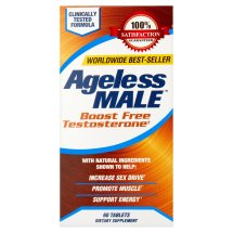 Ageless Male Testosterone Booster Dietary Support Supplement Tablets, 60 ct