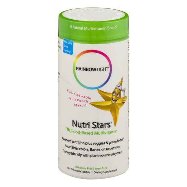Rainbow Light Nutri Stars Food-Based Multivitamin Chewable Tablets - 120 CT