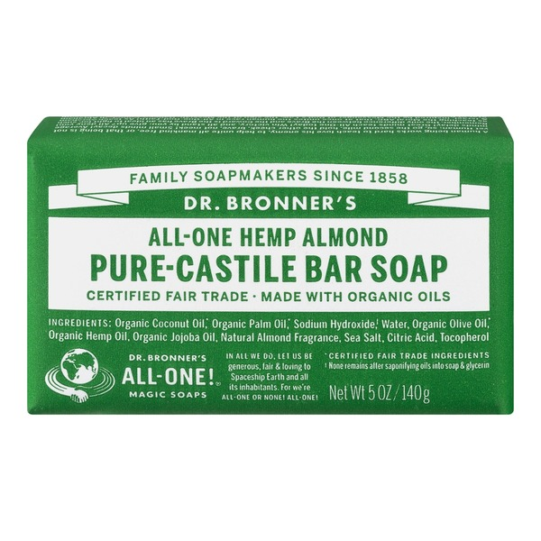 Dr. Bronner's Magic All-One Dr. Bronner's All-One Hemp Almond Pure-Castile Bar Soap