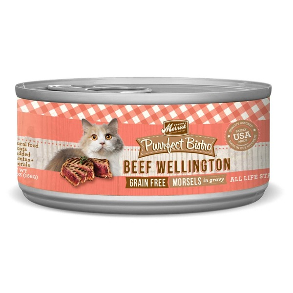 Merrick Purrfect Bistro Grain Free Beef Wellington Morsels in Gravy Cat Food