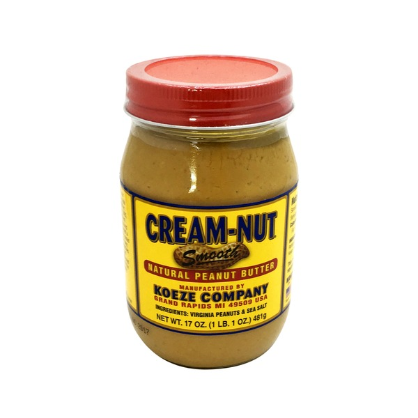 Koeze Company Cream Nut Smooth Natural Peanut Butter