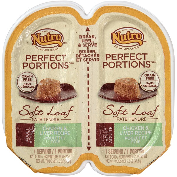 Nutro Perfect Portions Grain Free Real Chicken & Liver Recipe Pate Adult Cat Food