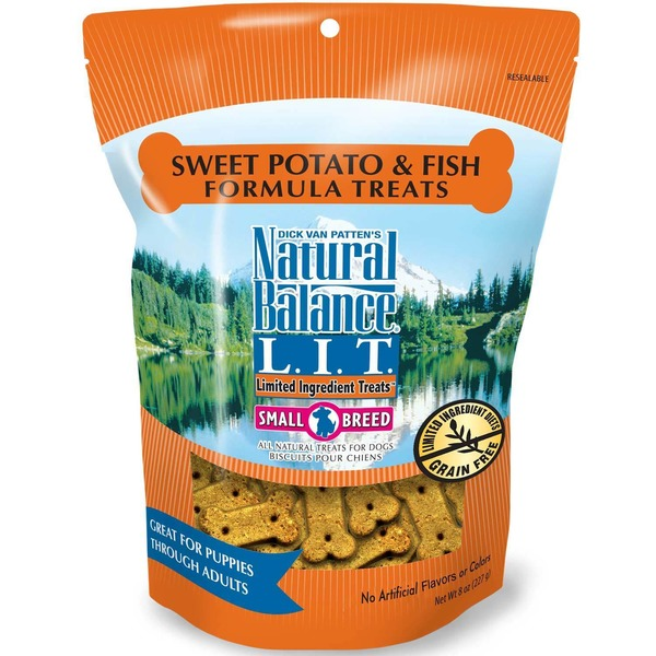 Natural Balance Sweet Potato and Fish Formula Small Breed Dog Limited Ingredient Treats