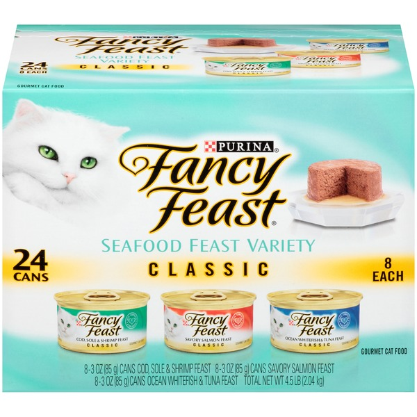 Fancy Feast Wet Classic Seafood Feast Collection Cat Food