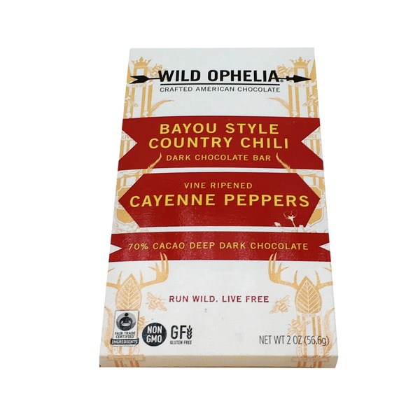 Wild Ophelia Bayou Style Country Chili Dark Chocolate Bar