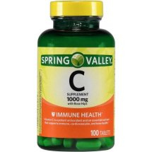 Spring Valley Vitamin C with Rose Hips Dietary Supplement Tablets, 1000 mg, 100 Ct