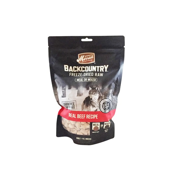 Merrick Backcountry Beef Recipe Freeze Dried Meal Mixer