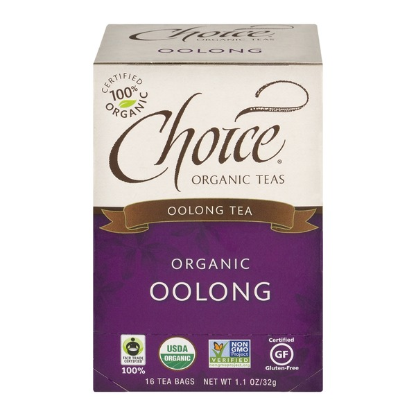 Choice Organic Teas Oolong Tea Bags - 16 CT
