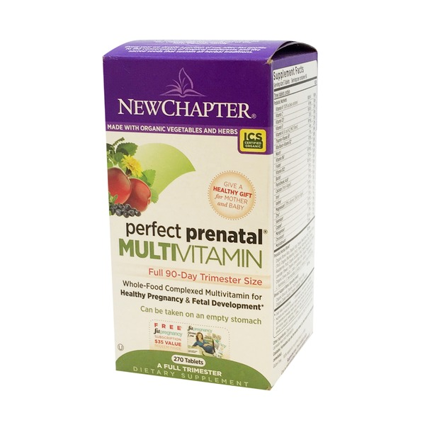 New Chapter Perfect Prenatal Complete Trimester Organic Multivitamins