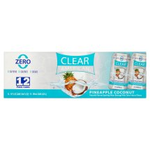 Clear American Sparkling Water, Pineapple Coconut, 12 Fl Oz, 12 Count