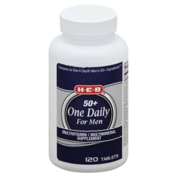 H-E-B 50+ One Daily For Men