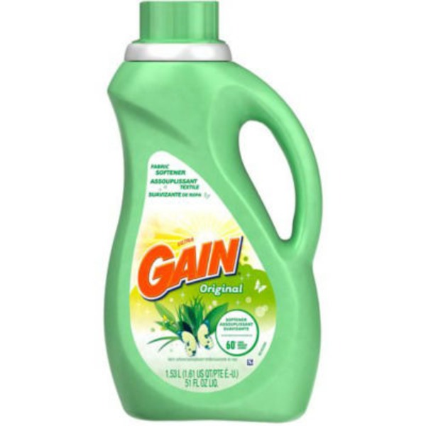 Gain Liquid Fabric Softener, Original Scent, 60 loads, 51 fl oz Fabric Enhancers