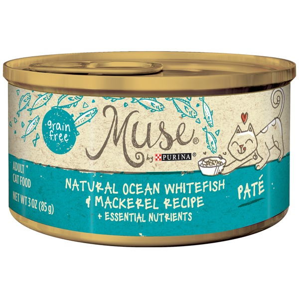 Muse Wet Ocean Whitefish & Mackerel Recipe Pate Cat Food