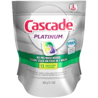 Cascade Platinum ActionPacs Dishwasher Detergent Lemon Burst 12 Ct Dish Care