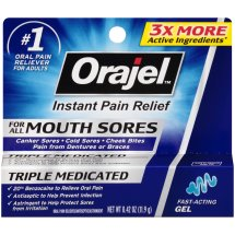 Orajel Instant Pain Relief Gel for All Mouth Sores, 0.42 oz