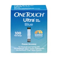 OneTouch Ultra Blood Glucose Test Strips Blue - 100 CT