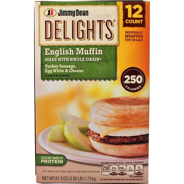 Jimmy Dean Delights Turkey Sausage Breakfast Sandwiches