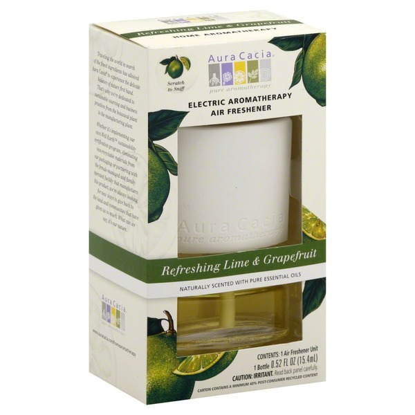 Aura Cacia Air Freshener, Electric, Refreshing Lime & Grapefruit
