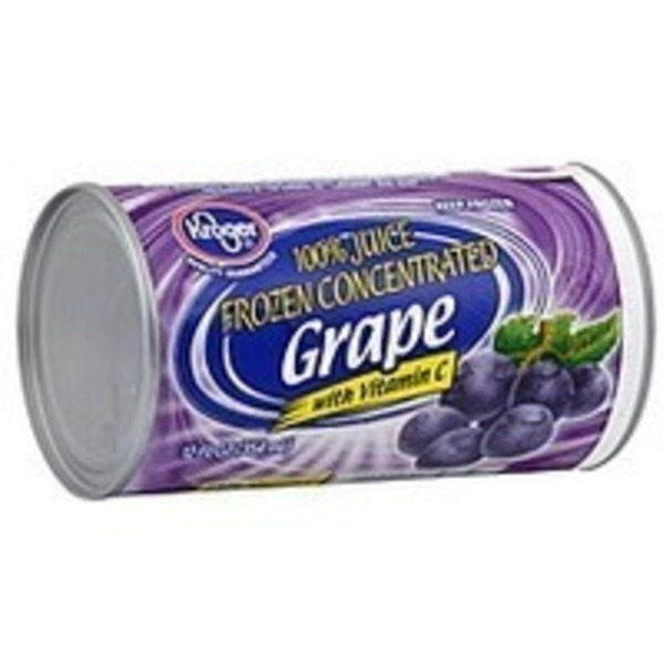 Kroger Frozen Juice Grape