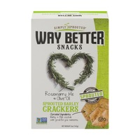 Way Better Snacks Simply Sprouted Way Better Snacks Sprouted Barley Crackers Rosemarry Me & Olive Oil
