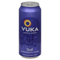 Vuka Think! Pomegranate Lychee Sparkling Energy Drink