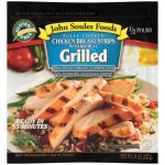 John Soules Foods Restaurant Quality w/Rib Meat Grilled Chicken Breast Strips, 8 oz