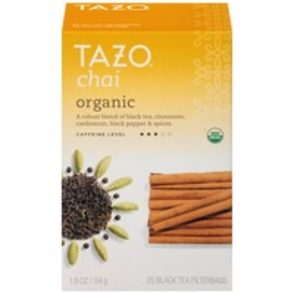 Tazo Tea Black Chai Organic Tea Bags